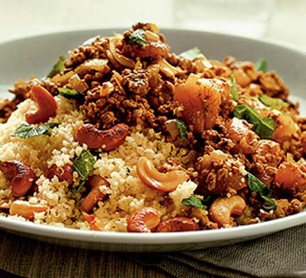 Moroccan spiced mince with couscous_image