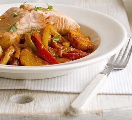Basque-style salmon stew