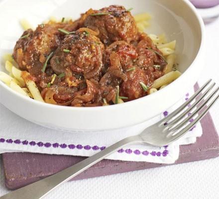 Lamb meatballs with rosemary tomato sauce