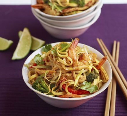 Superhealthy Singapore noodles