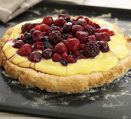 Fruit custard shortcake