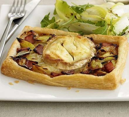 Welsh goat's cheese & leek tart
