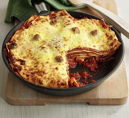 Ham & olive lasagne