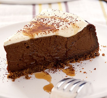 Kahlúa chocolate cheesecake
