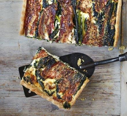 Cavolo nero & pancetta tart