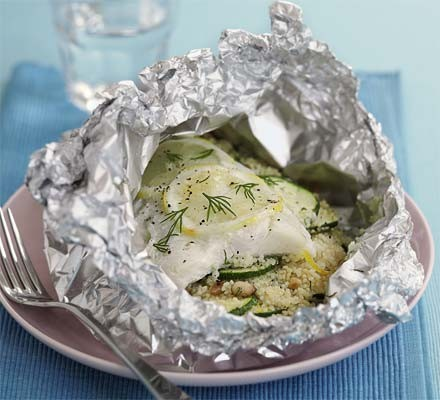 Couscous & fish in a bag
