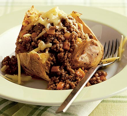 Baked Potato With Cheesy Mince Recipe Bbc Good Food