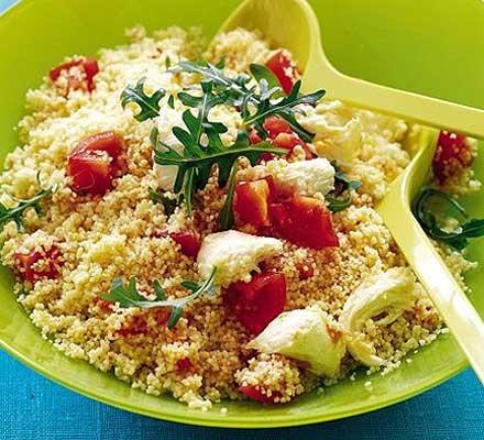 Tomato & mozzarella couscous salad