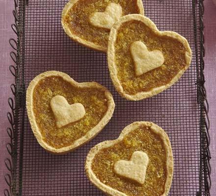 Treacle Tart Hearts Recipe Bbc Good Food