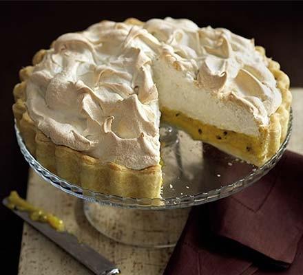 Passion meringue pie