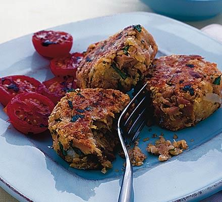 Spicy tuna & chickpea patties