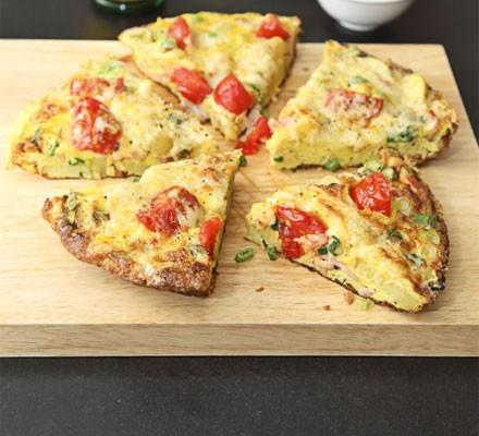 Omelette wedges