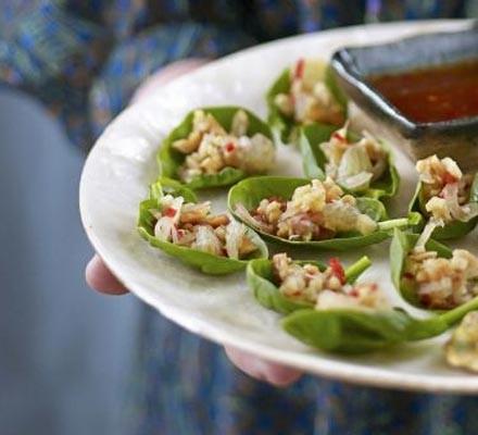 Thai spinach bites