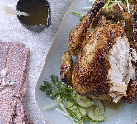 Sticky lime roast chicken