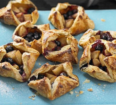 Apple & blueberry Danishes