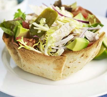 Mexican turkey salad bowl