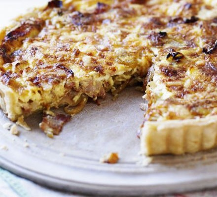 Egg-free cheese & bacon quiche