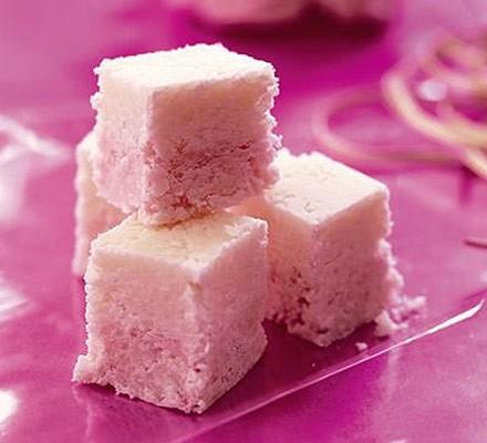 Coconut ice squares