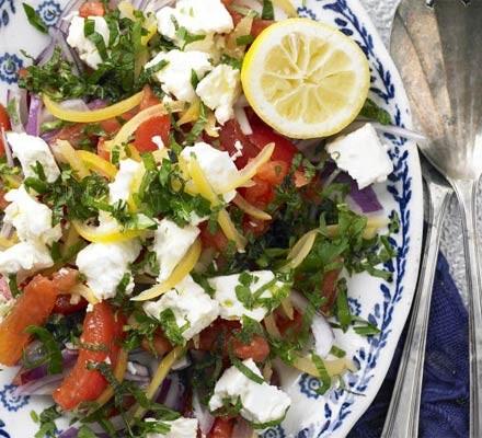 Preserved lemon & tomato salad with feta