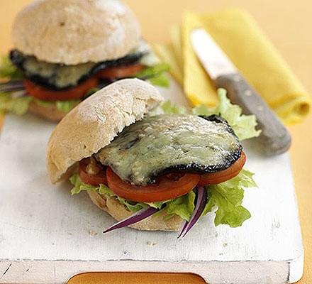 Garlic & mushroom burgers