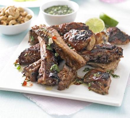 Thai sticky chicken & ribs