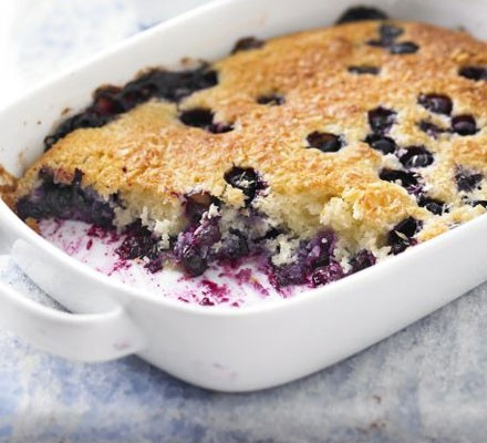 Blueberry & coconut pudding