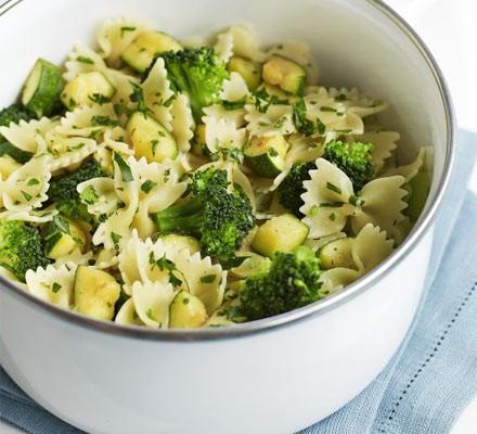 Courgette, broccoli & gremolata pasta