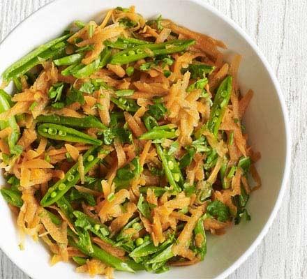 Carrot & sugar snap salad
