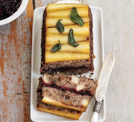 Parsnip, cranberry & chestnut loaf