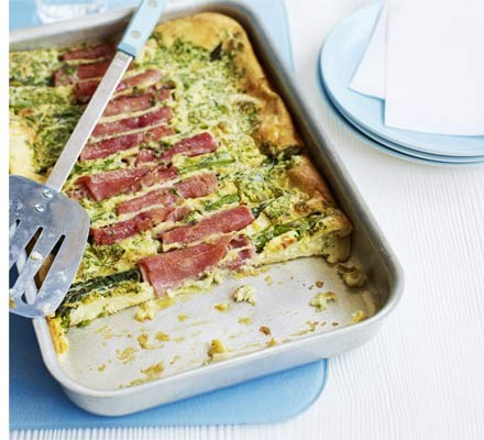 Ham & asparagus toad-in-the-hole