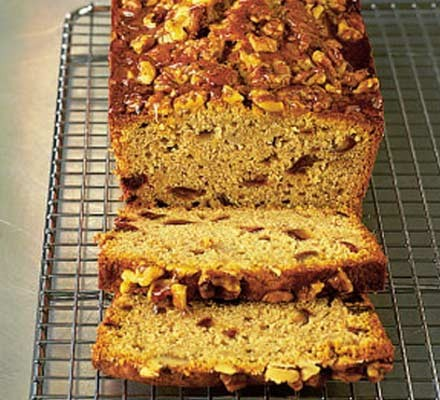 Walnut, date & honey cake