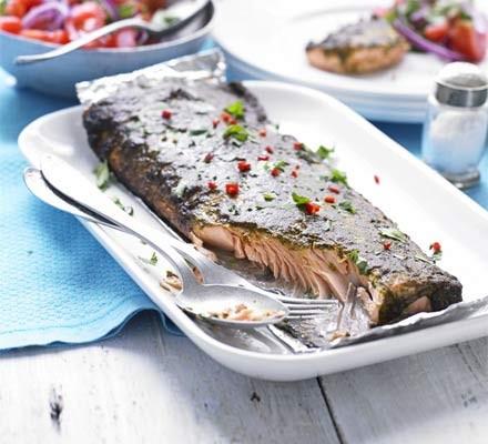 Smoky chermoula salmon
