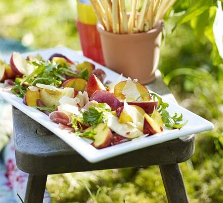 Antipasti peach platter