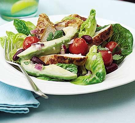 Cumin chicken & avocado salad