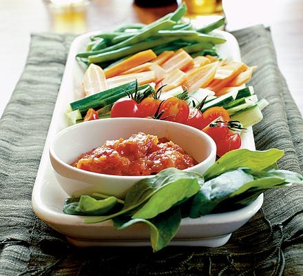 Hot & sour chilli jam with vegetables