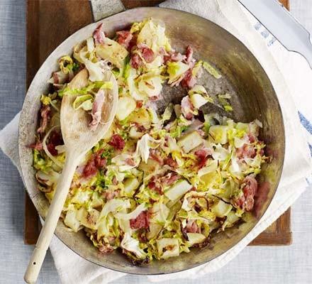 Ham hock & cabbage hash