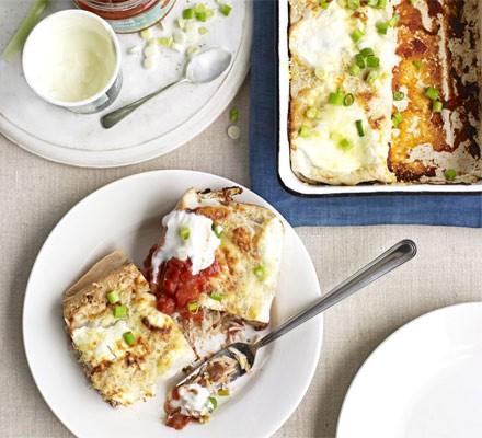 Rice & bean enchiladas