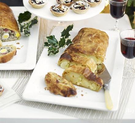 Easy cheese & onion slice