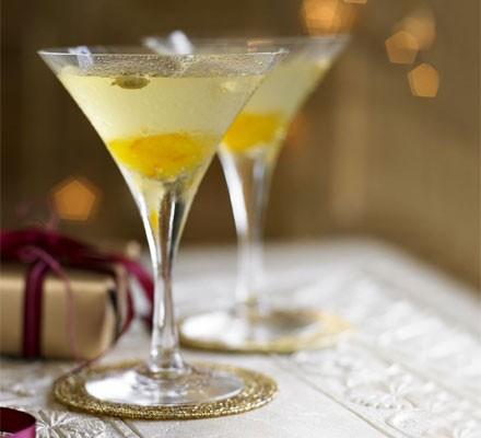 Bitter orange & cardamom martinis