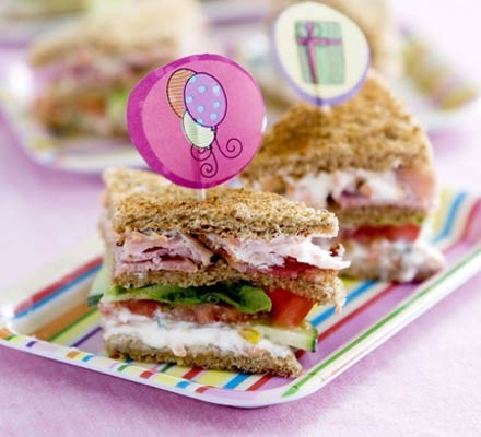 Kids' club sandwiches