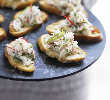 Crab, lime & chilli toasts