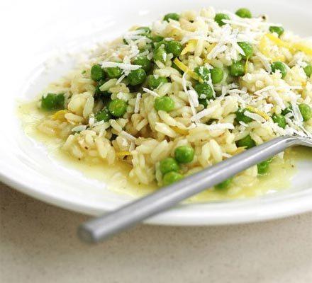 Lemon & pea risotto image