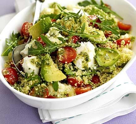 Tricolore couscous salad
