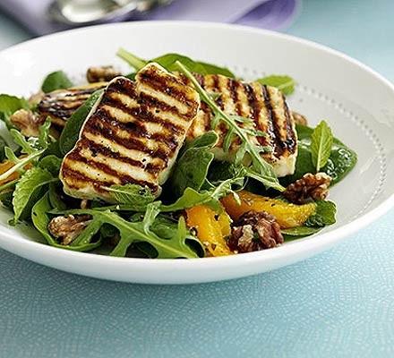 Halloumi Salad With Orange Mint Recipe Bbc Good Food