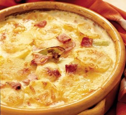 Potato & leek gratin