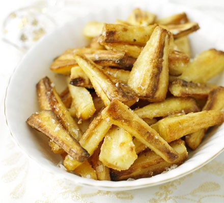 Crisp honey mustard parsnips