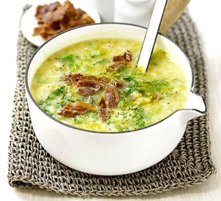 Potato Savoy Cabbage Soup With Bacon Recipe Bbc Good Food