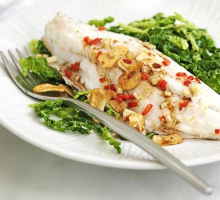 Chinese Steamed Bass With Cabbage Recipe Bbc Good Food