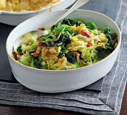 Cabbage With Bacon Onions Recipe Bbc Good Food