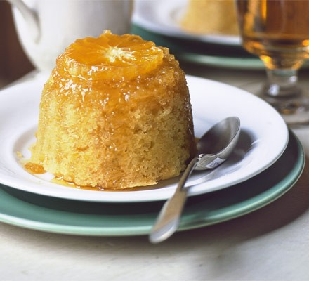 Sticky clementine & ginger puddings